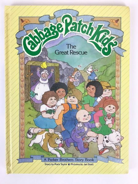 Vintage 1984 Cabbage Patch Kids Hardback Book - THE GREAT RESCUE